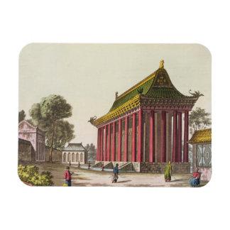 The 'European Palace' at Yuen-Ming-Yuan, illustrat Rectangular Photo Magnet