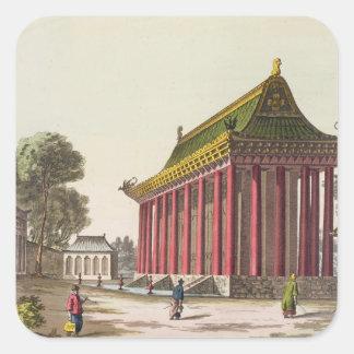 The 'European Palace' at Yuen-Ming-Yuan, illustrat Square Sticker