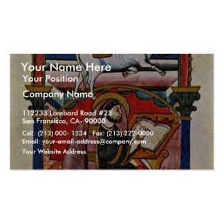 The Evangelist Luke By Meister Der Fuldaer Schule Business Card