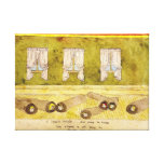 The Evans Roll Themselves in Floor Rugs Canvas Print