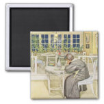 The Evening Before the Journey to England - Study 2 Inch Square Magnet