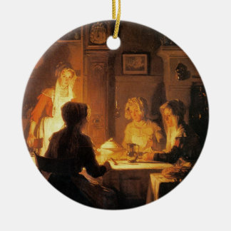 The Evening Meal, c.1900 (oil on canvas) Ceramic Ornament