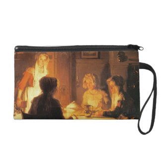 The Evening Meal, c.1900 (oil on canvas) Wristlet Purse