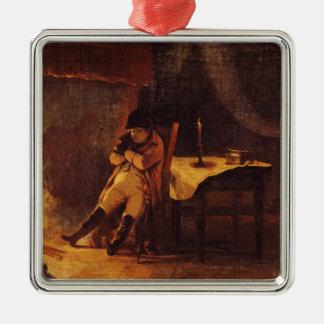 The Evening of the Battle of Champaubert, 1814 Metal Ornament