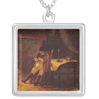 The Evening of the Battle of Champaubert, 1814 Silver Plated Necklace