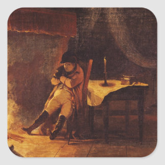 The Evening of the Battle of Champaubert, 1814 Square Sticker