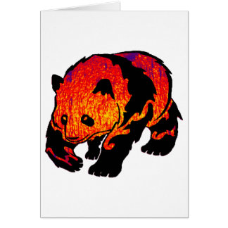 THE EVENING PANDA GREETING CARD