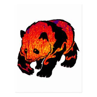 THE EVENING PANDA POSTCARD