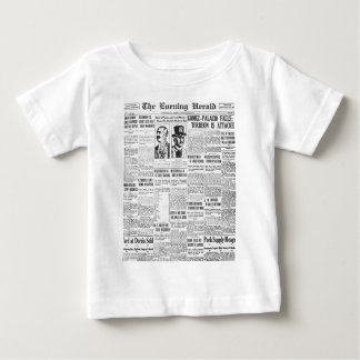 The Evening Post 1914 News Paper Baby T-Shirt