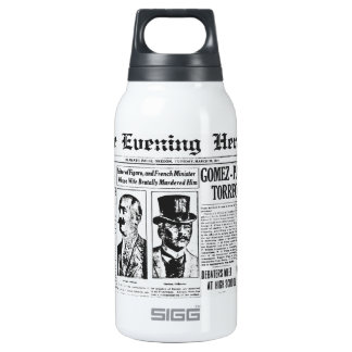 The Evening Post 1914 News Paper Insulated Water Bottle