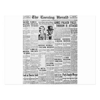 The Evening Post 1914 News Paper Postcard