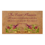 The Event Planners Profile Card Double-Sided Standard Business Cards (Pack Of 100)