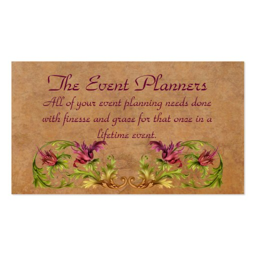 The Event Planners Profile Card Business Cards