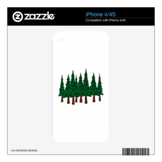 The Evergreen Forest Skins For iPhone 4