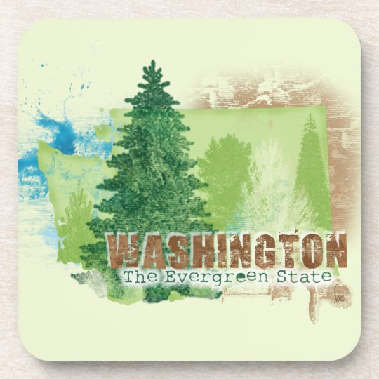 The Evergreen State Drink Coaster