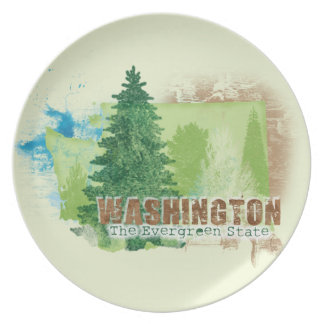 The Evergreen State Plate