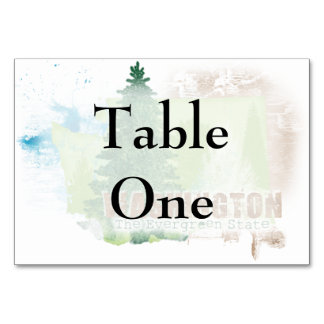 The Evergreen State Table Card