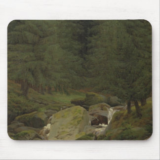 The Evergreens by the Waterfall Mousepads