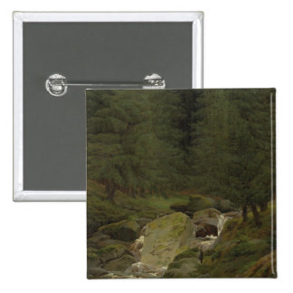 The Evergreens by the Waterfall Pinback Button