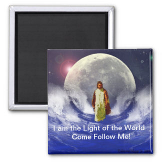 The Everlasting Light 2 Inch Square Magnet
