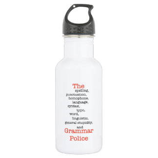The Everything Police Stainless Steel Water Bottle