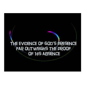 The Evidence of God's Presence Postcard