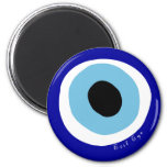 The evil eye 2 inch round magnet