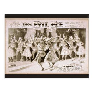 The Evil Eye, 'Electric Ballet' Retro Theater Postcard