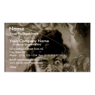 The Evil Eye, 'Nid and Nod trifle with Evil Eye' Double-Sided Standard Business Cards (Pack Of 100)