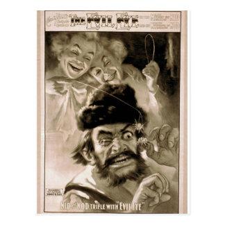 The Evil Eye, 'Nid and Nod trifle with Evil Eye' Postcard