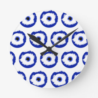 The Evil Eye Pattern Round Clock