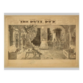 The Evil Eye Vintage Theater Postcard