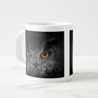 The Evil Eyes. ( Eagle Owl, Bubo Bubo) Giant Coffee Mug