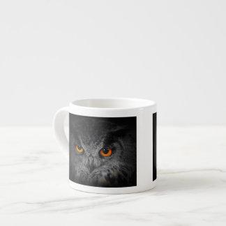 The Evil Eyes. ( Eagle Owl, Bubo Bubo) 6 Oz Ceramic Espresso Cup