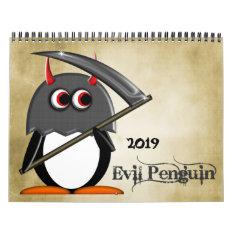 The Evil Penguin™ Cartoon Calendar 2016 at Zazzle