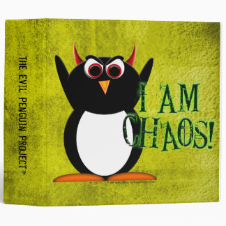 "The Evil Penguin Project™ School Binders! 2"" size 3 Ring Binder"