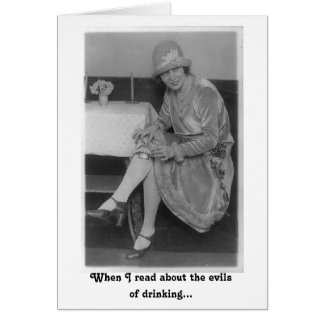 The Evils of Drinking Card