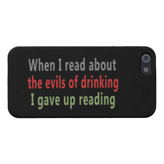 The Evils of Drinking Cover For iPhone 5