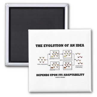 The Evolution An Idea Depends Upon Adaptability 2 Inch Square Magnet