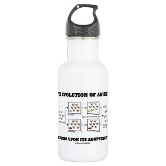 The Evolution An Idea Depends Upon Adaptability 18oz Water Bottle