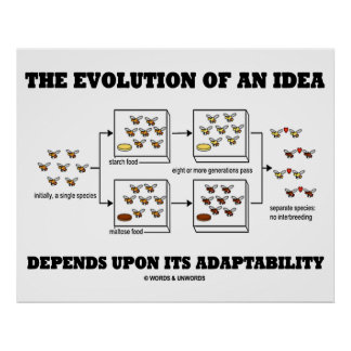 The Evolution An Idea Depends Upon Adaptability Poster