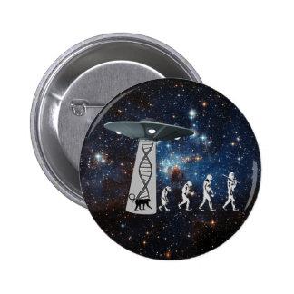 The Evolution Conspiracy Pinback Button