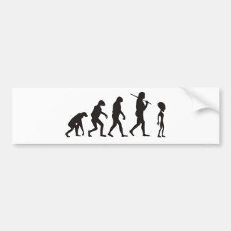 The Evolution Of Alien Car Bumper Sticker