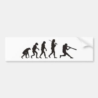 The Evolution Of Baseball Batter Bumper Sticker