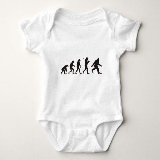 The Evolution Of Bigfoot Baby Bodysuit