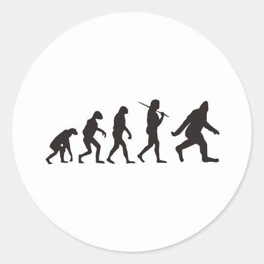 The Evolution Of Bigfoot Classic Round Sticker