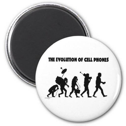 The Evolution Of Cell Phones 2 Inch Round Magnet