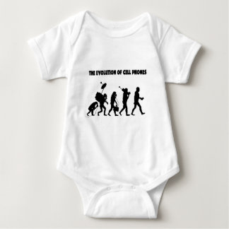 The Evolution Of Cell Phones Baby Bodysuit