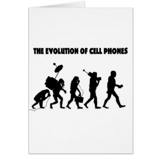 The Evolution Of Cell Phones Card