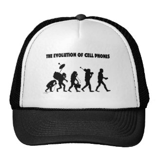 The Evolution Of Cell Phones Mesh Hat